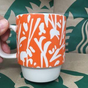 STARBUCKS 2016 12 Fl Oz Orange Ceramic Mug. New